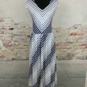 Jessica London 20 Blue White Striped Dress POCKETS